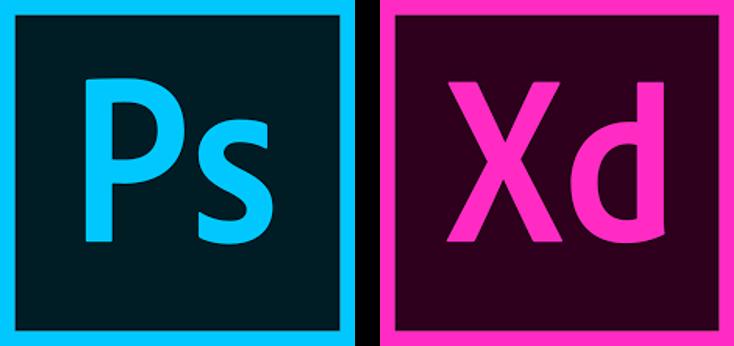 Adobe Photoshop and Adobe XD