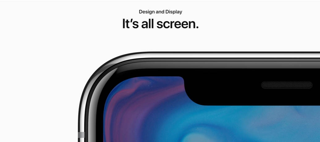 Apple X's Introduction Page