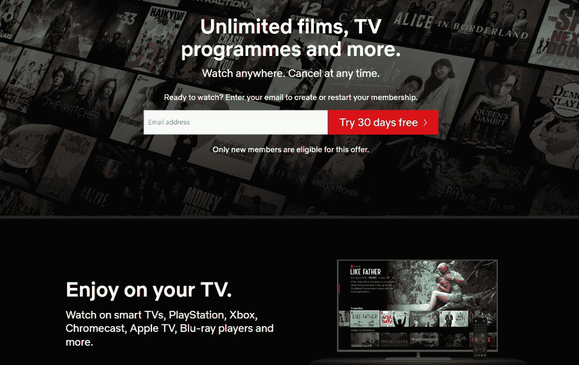Netflix Homepage